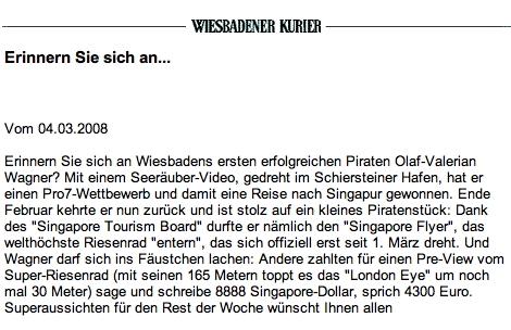 Wiesbadens erfolgreicher Pirat